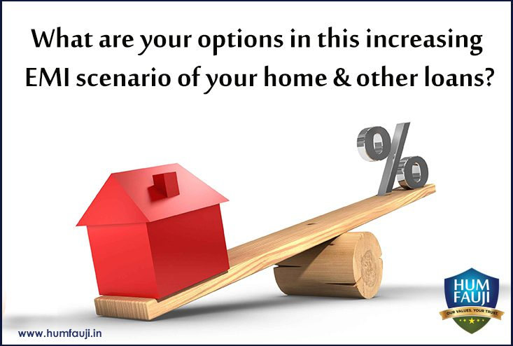 What are your options in this increasing EMI scenario of your home & other loans?