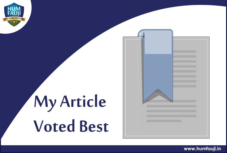 My Article Voted Best