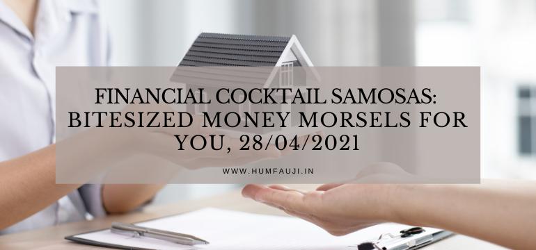 Financial Cocktail Samosas Bitesized money morsels for YOU, 2842021